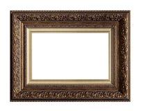 Cadre classique d'or de toile de peinture image stock