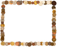 Cadre of coins Royalty Free Stock Image