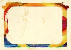 Cadre coloré image stock