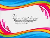 Cadre coloré abstrait d'éclaboussure de couleur d'arc-en-ciel Image libre de droits