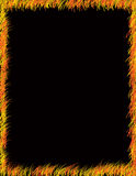 Cadre coloré d'herbe sur le noir Image libre de droits