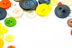 Cadre coloré de boutons photo libre de droits