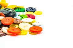 Cadre coloré de boutons photos libres de droits
