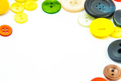 Cadre coloré de boutons photo stock