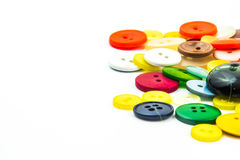 Cadre coloré de boutons Images stock