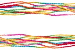 Cadre coloré de corde Photo stock