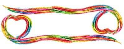 Cadre coloré de corde d'amour Photographie stock libre de droits