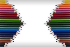 Cadre coloré 16 de crayon Photographie stock