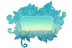 Cadre coloré de griffonnage Photo libre de droits