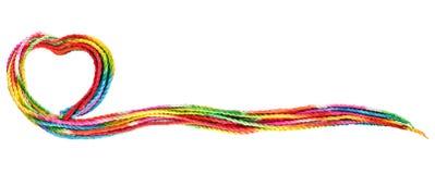 Cadre coloré des textes de corde Images stock