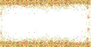 Cadre coloré doux de poudre de boules de sucre sur le fond blanc avec l'espace de copie Élément de salutation de design de carte  illustration stock