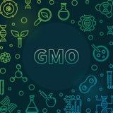 Cadre coloré génétiquement modifié d'ensemble de vecteur d'organisme illustration stock
