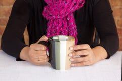 Cadre commercial ayant une tasse de café Photographie stock