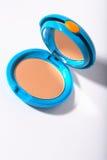 Cadre compact cosmétique de poudre Photographie stock libre de droits