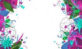 Cadre créatif abstrait Images stock