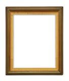 Cadre décadent en bois sur le fond blanc photos stock