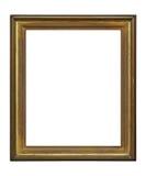 Cadre décadent en bois sur le fond blanc image stock