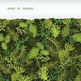 Cadre déchiré horizontal à feuilles persistantes d'arbre de Noël illustration de vecteur