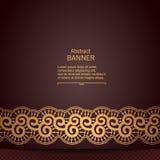 Cadre décoratif abstrait de luxe avec le ruban de dentelle Photo libre de droits