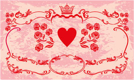 Cadre décoratif avec la couronne Image libre de droits
