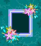 Cadre décoratif coloré photographie stock