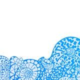 Cadre décoratif d'élément Carte abstraite d'invitation Photos stock