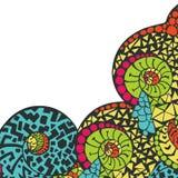 Cadre décoratif d'élément Carte abstraite d'invitation Images libres de droits