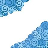 Cadre décoratif d'élément Carte abstraite d'invitation Image libre de droits