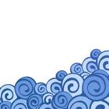 Cadre décoratif d'élément Carte abstraite d'invitation Photo stock