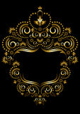 Cadre décoratif d'or dans le style oriental. Images stock