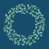 Cadre décoratif de feuilles de couleur fraîche de ressort Photographie stock