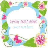 Cadre décoratif de fleur avec le texte Images libres de droits