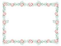Cadre décoratif de houx de Noël Images stock