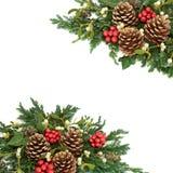 Cadre décoratif de Noël Photos stock