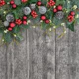 Cadre décoratif de Noël Images libres de droits