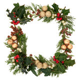 Cadre décoratif de Noël Images stock