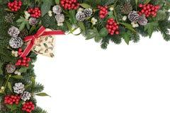 Cadre décoratif de Noël Photo stock