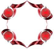 Cadre décoratif fait de remous rouges de bande Image stock