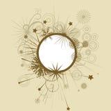 Cadre décoratif fleuri Images stock