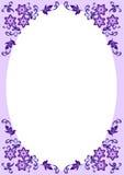 Cadre décoratif floral Photo stock