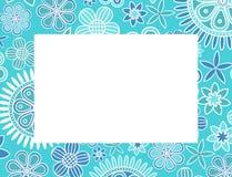 Cadre décoratif floral bleu-clair illustration libre de droits