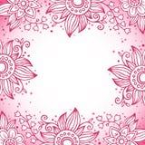 Cadre décoratif floral dans des couleurs roses Photos libres de droits