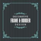 Cadre décoratif, frontière avec la ligne style ornementale illustration stock