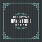 Cadre décoratif, frontière avec la ligne style ornementale illustration libre de droits