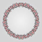 Cadre décoratif tiré par la main Image stock