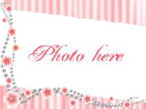 Cadre décrit par rose Image stock