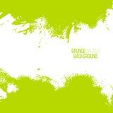 Cadre d'éclaboussure de peinture de vert d'été de vecteur Image libre de droits