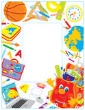 Cadre d'école illustration stock