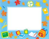 Cadre d'école pour votre photo et texte Images stock