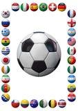 Cadre d'équipes de football du monde Photo libre de droits